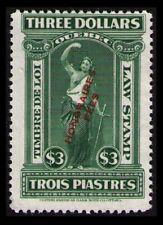 CANADA QUEBEC REVENUE 1923 $3. #QL84 MNG RARE OVERPRINTED LAW STAMP CAT $17.50