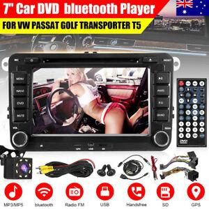 7'' 2 DIN Car Stereo DVD Player Radio GPS Camera for VW Passat Golf Jetta MK5 6
