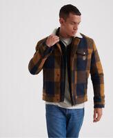 Superdry Mens Hacienda Wool Check Jacket
