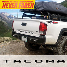 2016 2017 2018 TACOMA (Gloss Black) Vinyl Decal Tailgate Letters Insert Sticker