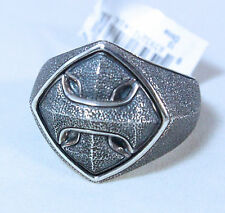 David Yurman Men's Armory Cushion Signet Ring Sterling Silver Size 10 $425 NWT