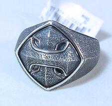 David Yurman Men's Sterling Silver Armory Cushion Signet Ring Size 10 $425 New
