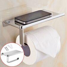 Inox Porte Rouleau de Papier Hygiénique Support Mural Salle Bain Toilette Holder