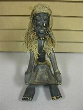 Vintage Hand Carved Medicine Man Witch Doctor Tribal Elder Age & Maker Unknown