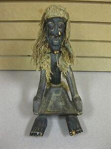 Vintage Hand Carved Medicine Man Witch Doctor Tribal Elder Age & Maker Unknown