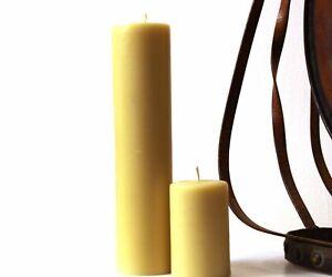Handmade 100% Pure Beeswax Pillar Candles 100% Cotton Wick
