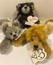Lot (3) Annette Funicello Annette's Pets Lion Angel Bear Cat Shadow Rare Mohair