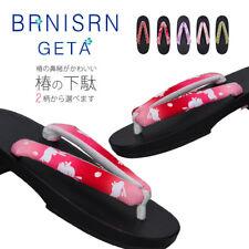c7b44ff84b4f Women Japanese Yukata Geta Clogs Cosplay Shoes Slippers Wood Flip Flop  Sandal