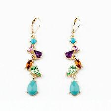 Fashion Jewelry Alloy Multicolor Long Drop Earrings for Women Factory Wholesale