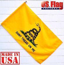 2.5'x4' Gadsden Flag (Pole Sleeve) DONT TREAD ON ME Nylon Flag (9254Gadsden_PH)
