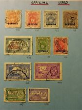 INDIA STATES - BHOPAL Stamps Scott O1//O56 (11 stamps)  Used