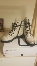 Bronx lace up off white Boots UK7 Rrp£160 nearly perfect