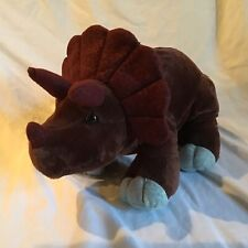 "KOHL'S CARES Dinosaur Brown Triceratops 15"" Plush Animal *NWOT*"