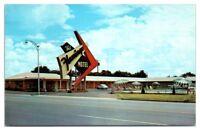 1950s/60s Flamingo Motel and Restaurant, Route 66, Elk City, OK Postcard