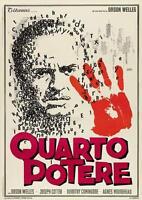 CITIZEN KANE Movie POSTER 27x40 Italian C Orson Welles Joseph Cotten Everett