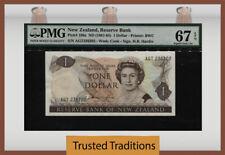 TT PK 169a ND(1981-85) NEW ZEALAND 1 DOLLAR QUEEN ELIZABETH II PMG 67 EPQ SUPERB