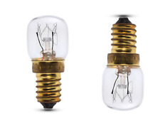 2 x 15 watt Clear Pygmy Sign Light Bulbs SES E14 Branded Average Life 1000hrs