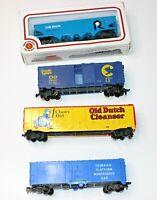 Lot of 4 HO Scale Train Cars Bachmann, Lionel, Tyco & Life Like