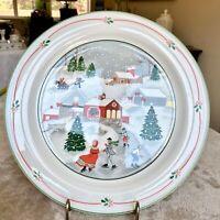 "Sango Silent Night 3900 Christmas SET OF 4 - Dinner Plates 10 3/4"""