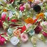 100pcs Satin Ribbon Flowers Bows Rose Sewing Wedding Appliques U pick A603