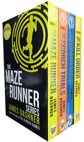 Maze Runner Series 4 books Collection Set by  James Dashner