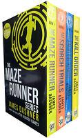 Maze Runner Series 4 books Set James Dashner, The Death Cure , Scorch Trials NEW