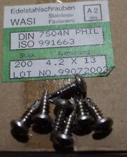 Linsenkopf Bohrschrauben DIN 7504  4.2x13 mm Edelstahl A2 Top Qualität 50 Stück