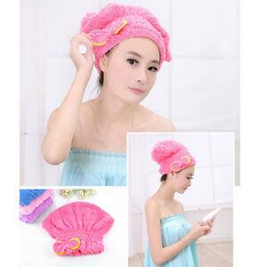 Magic Dry Hair Cap Shower Cap Super Absorbent Microfiber Towel Dry Hair^