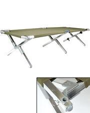 Mil-Tec US Feldbett Aluminium Oliv 210x65cm Campingliege Bett Liege Campingliege