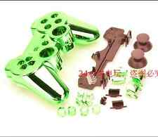 Verde Cromado Carcasa Shell Funda protectora Kit Para Ps3 Controller Dualshock 3