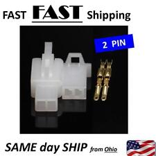 2.8mm Electrical wire Connector 2P Male Female Motorcycle terminal plug - 2 SETS