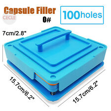 100 Holes Capsule Filler Size 0 Capsule Filling Machine Flate Tool Food Grade