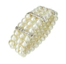 50 Perlen 14mm Elfenbeinweiß Halbperlen Elegante PL 046 Applikation