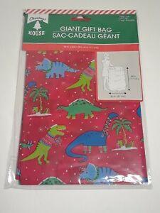 """Christmas Giant Gift Bag Plastic 36"""" X 44"""" with Tag - Merry Christmas - 1 pcs"""