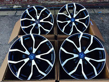 """18"""" WOLFRACE ASSASSIN LOAD RATED ALLOY WHEELS BLACK & SILVER FORD TRANSIT"""
