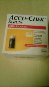 2 X Accu Chek fast clix 204 lancets X2 =408 , Brand new unopened uk stock
