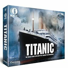 TITANIC NEW 6 DVD GIFT BOX SET TRAGIC STORY OF THE SHIP DISCOVERY CHANNEL