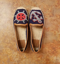 ef80c21e08f New! Tory Burch  Maritime  Navy Blue Espadrille Flats Womens Size 5 M MSRP