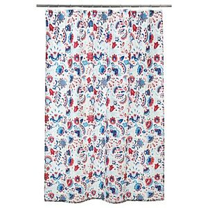 Floral PVC Shower Curtain Bathroom Waterproof beautiful colorful design 180x180