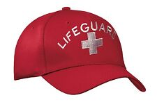 LIFEGUARD HATS / Embroidered- Adjustable- Red