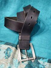 Timberland Dark Brown Leather Belt Size 40