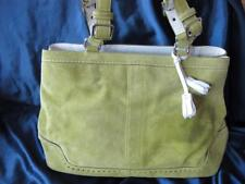 Authentic COACH Suede Gallery Tote Bag Satchel...#5079..green..w/ dust cover