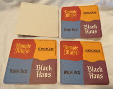 (6) Coasters - Rumple Minze - Yukon Jack - Black Haus