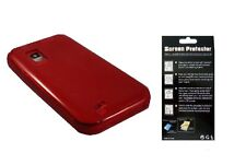 Screen Protector + EP Red TPU Cover Case for Samsung Galaxy S Showcase SCH-i500