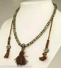 Philippinen Elegant Uhren & Schmuck Asiatischer Schmuck Pangalapang Ifugao Muschel & Rattan Tribal Halskette