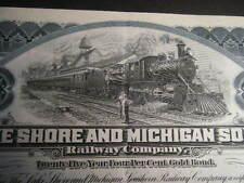 WOW TRIO of Lake Shore & Michigan Southern 1920s Bonds: $1,000; $5,000 & $10,000