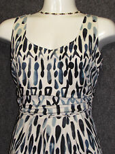 ELIE TAHARI Colorful Abstract Pattern Sleeveless Shift DRESS SZ 4