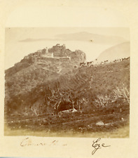 France, Èze, vue panoramique  Vintage albumen print, Tirage albuminé  7x7,5