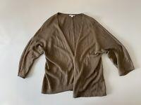 J.Jill Long Sleeve Open Front Cardigan Women's Size M Brown Tan