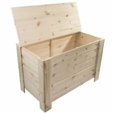 XLarge Wooden Storage Trunk Toy Box Bedroom Chest / Unpainted Pine For Craft